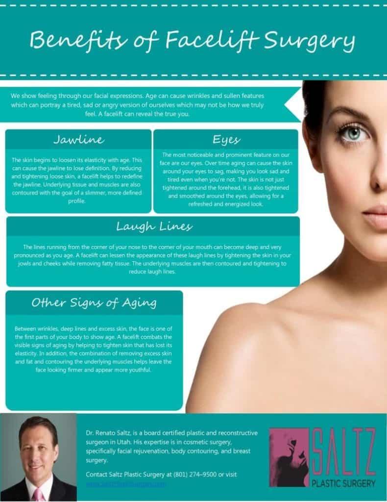 beneficios de lifting facial infografia